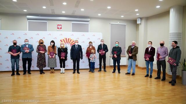 Stypendia artystyczne Prezydenta Białegostoku na rok 2021 wręczone