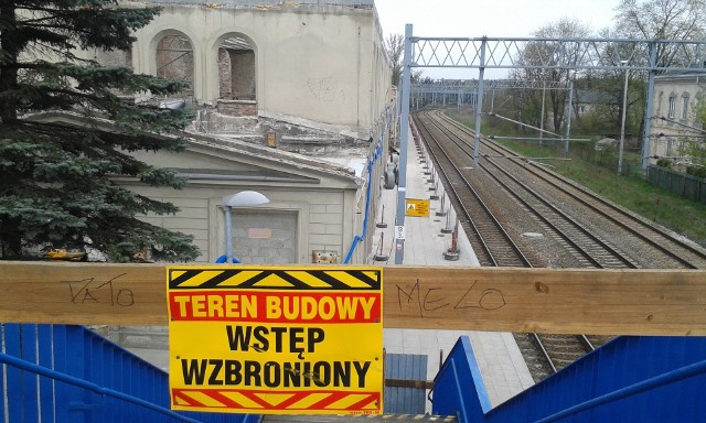 Dworzec w Maczkach w Sosnowcu w czasie remontu
