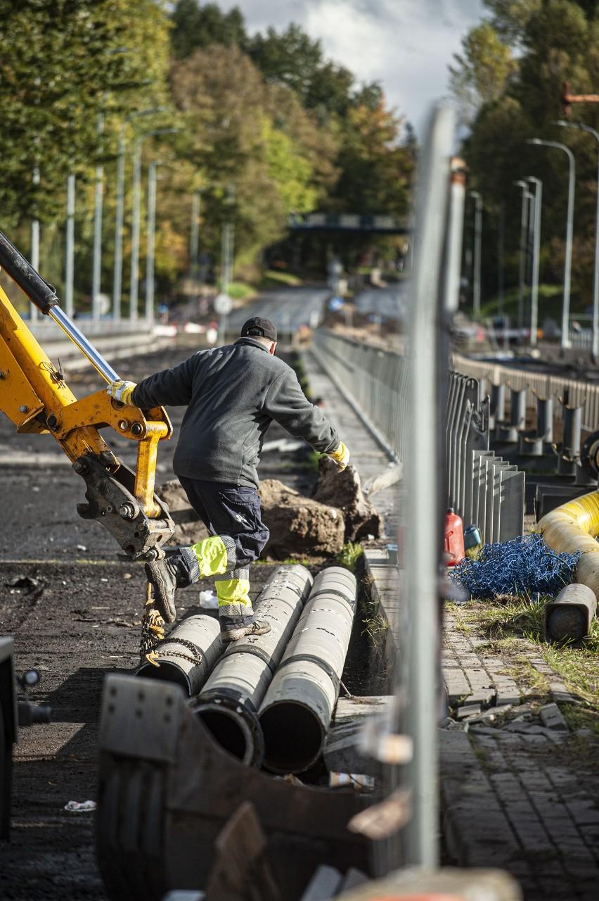 Rozbiórka wiaduktu w Koszalinie