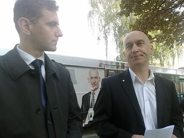 Wojewoda Maciej Żywno i kandydat na senatora Tadeusz Arłukowicz