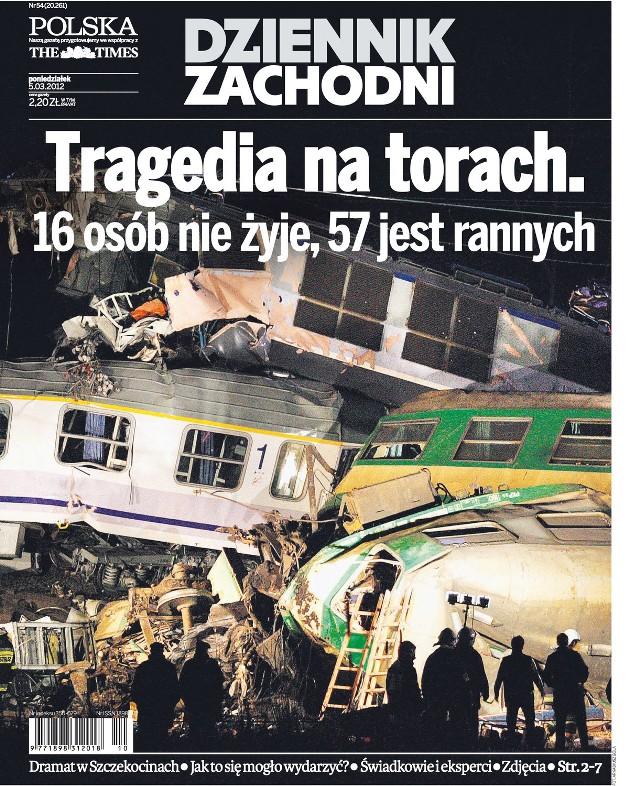 3 marca 2012 roku w miejscowości Chałupki w gminie Szczekociny (powiat zawierciański) na jednym torze czołowo zderzyły się dwa pociągi pospieszne. Zginęło 16 osób, a kilkadziesiąt zostało rannych. Zobacz Dziennik Zachodni z 5.3.2012. W materiałach relacjonowaliśmy skutki katastrofy.