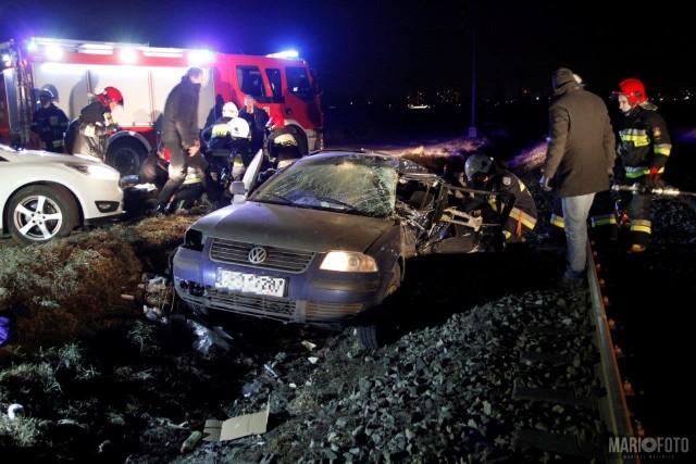 Wypadek na przejeździe w Chmielowicach.