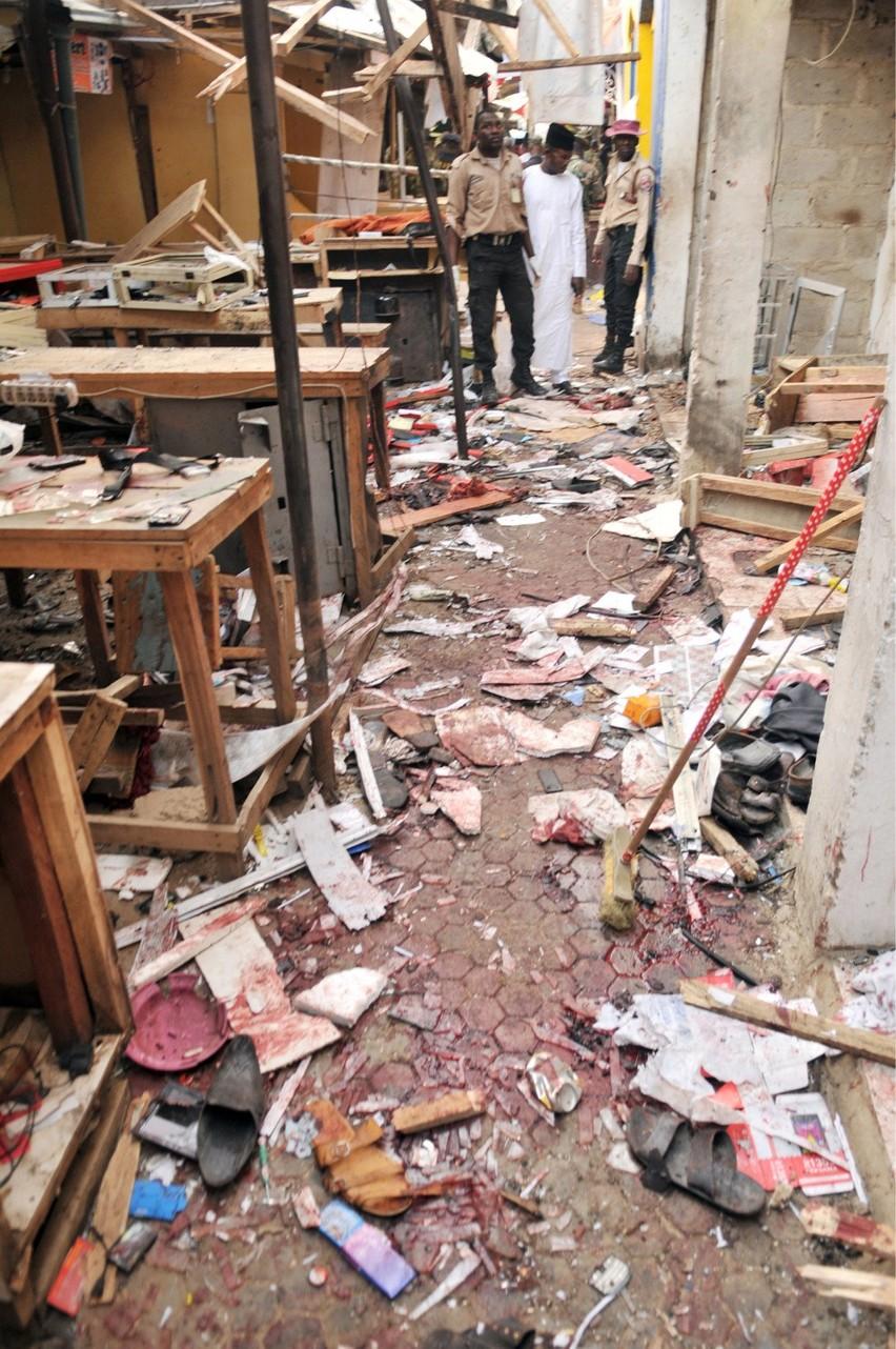 Miejsce zamachu w Kano