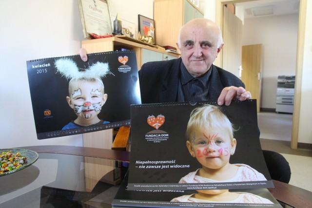 W sesji fotograficznej poprzedzającej wydanie kalendarza wzięło udział trzynaścioro dzieci - mówi Kazimierz Jednoróg.