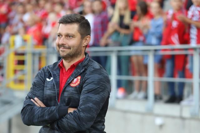 Trener Widzewa Marcin Kaczmarek