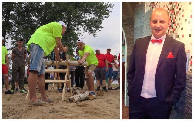 Z prawej Mariusz Kubal, Sołtys Roku 2017, obok Dni Łącka, Sołectwa Roku 2017