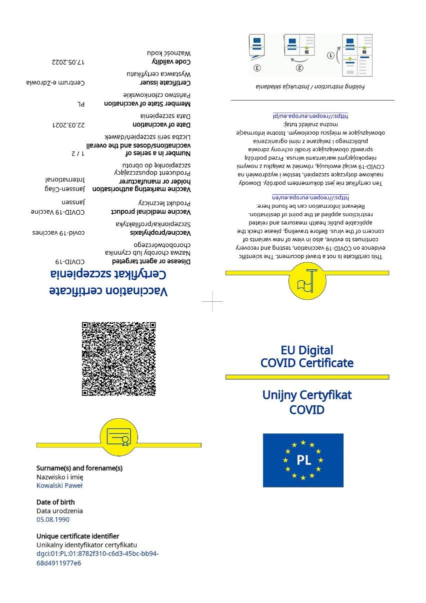 Unijny Certyfikat COVID (UCC). Co to jest UCC? Jak można uzyskać UCC? Jak długo jest ważny certyfikat UCC? Jak działa aplikacja UCC?