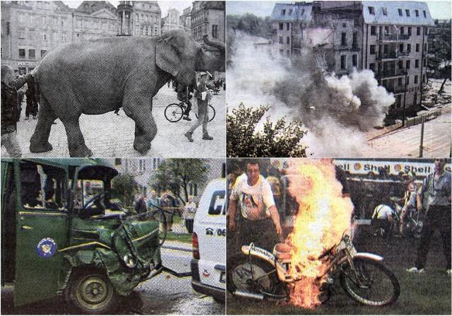 Dziś sięgamy do naszego archiwum po gazety sprzed 20 lat - a dokładnie z września i października 1998 roku. Zobaczcie co się wówczas działo w naszym mieście, być może któreś z tych wydarzeń pamiętacie. Spacer ze słoniem po mieście, wyburzanie 100-letnich kamienic, zwycięstwo Gołoty w Hali Ludowej czy wystawę prac Dalego w ratuszu, do której ustawiały się ogromne kolejki. Wówczas nawet wypadki były nie do wyobrażenia dziś - dwa fiaty 126p, a w jednym z nich rodzina z 5 dzieci! Zobaczcie o czym pisaliśmy 20 lat temu w naszej galerii - zdjęcia i teksty.