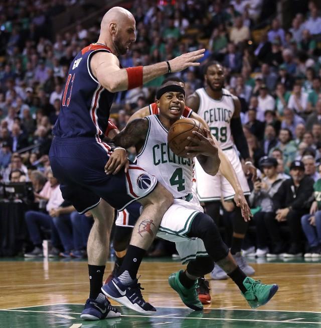 Marcin Gortat w meczu numer cztery z Boston Celtics zdobył sześć punktów i miał siedem zbiórek.