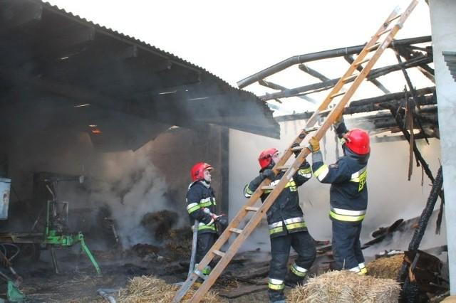 Gaszenie pożaru w Zimnej Wódce trwało blisko 10 godzin.