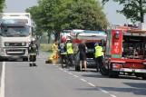 Wypadek konwoju ze znaczną ilością pieniędzy na DK15 w Wielkopolsce. Konwojent i pasażer trafili do szpitala
