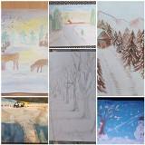 Prace plastyczne uczniów Szkoły Podstawowej nr 1 w Brzezinach. Oto, jak widzą zimę