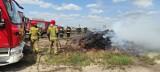 Pożar rżyska i kombajnu w Lisewie. Zobaczcie zdjęcia