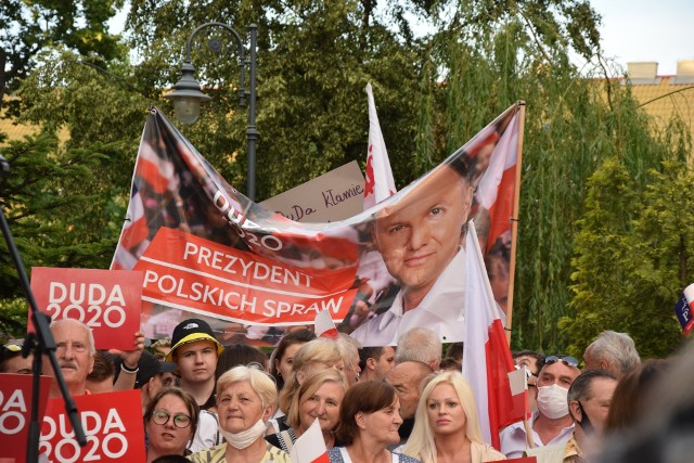 Wizyta Andrzeja Dudy, walczącego o reelekcję prezydenta, 2 lipca 2020 r.