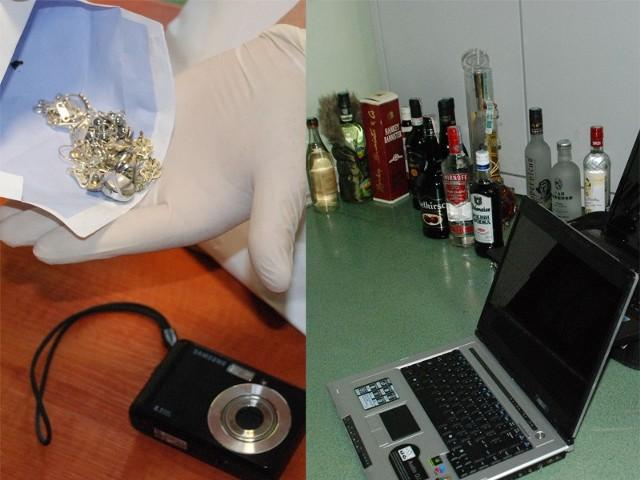Młodzi złodzieje skradli m.in. biżuterię i laptopy.