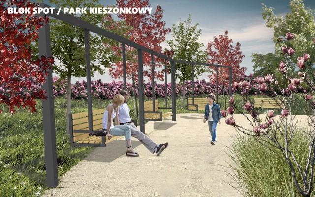 """""""Blok Spot"""" park kieszonkowy - zielone miejsce spotkań i rekreacji na os. Słonecznym"""
