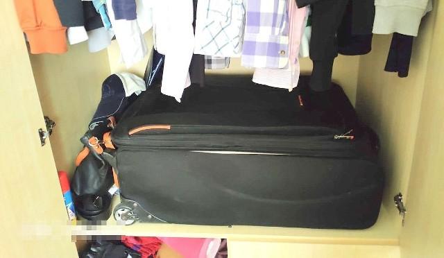 Policjanci znaleźli kobietę... ukrytą w walizce