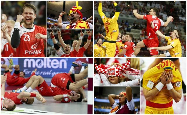 Obiektywy aparatów uchwyciły emocje związane z bardzo dramatycznym spotkaniem Polska - Hiszpania.