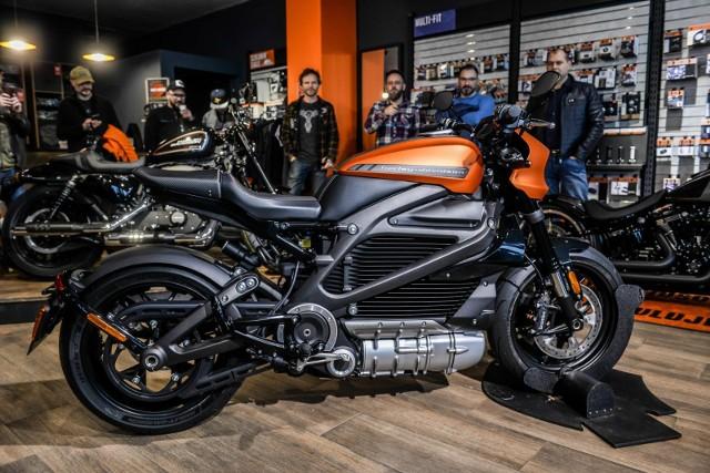 Prezentacja pierwszego elektrycznego motocykla Harley-Davidson w Gdańsku 1.02.2020