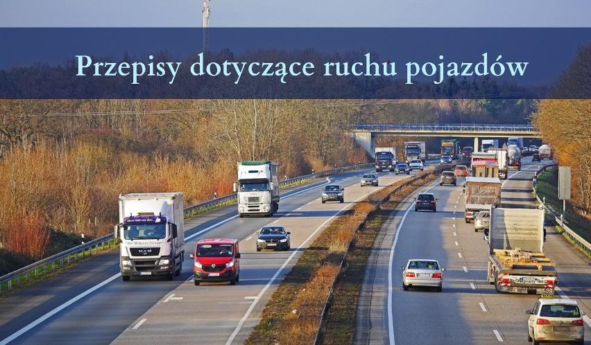 Przepisy dotyczące ruchu pojazdów...