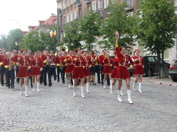 Międzynarodowy Festiwal Orkiestr Dętych - przemarsz przez centrum Białegostoku.
