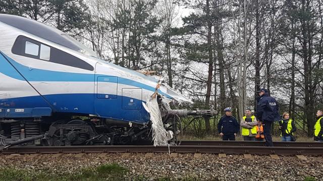 Wypadek pendolino w Schodni koło Ozimka.