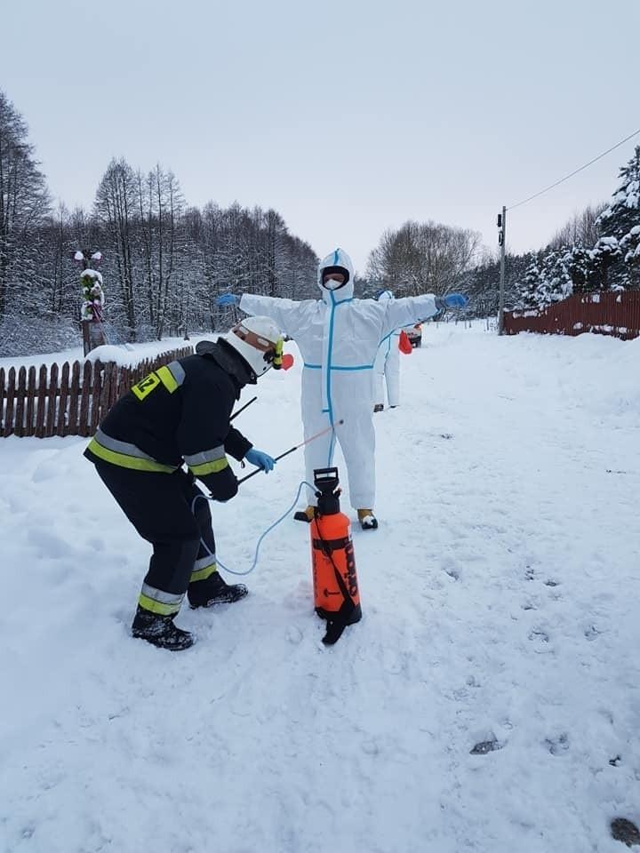 Okopy. Strażacy z OSP Suchowola pomagali ratownikom...