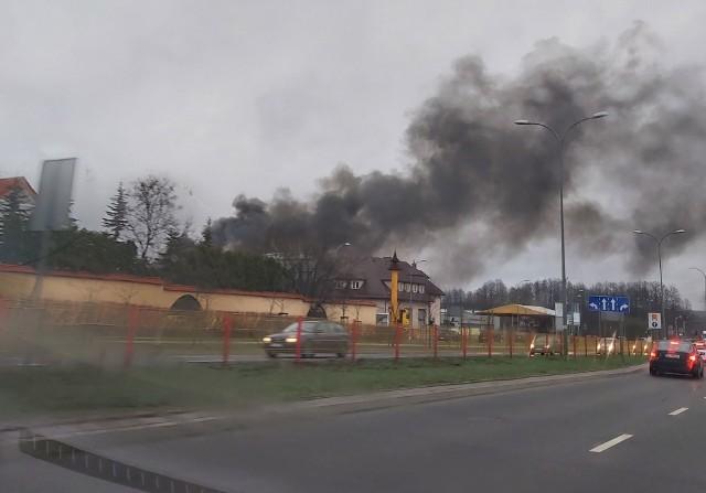 Pożar na terenie MPO w Białymstoku