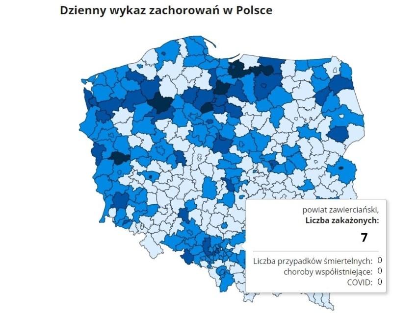 Dziś w całej Polsce potwierdzono 2167 nowych zakażeń...