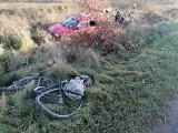 Wypadek w Lubczynie. Kierowca potrącił rowerzystę