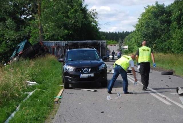 Wypadek na trasie Chojnice-Kościerzyna wyglądał bardzo groźnie.