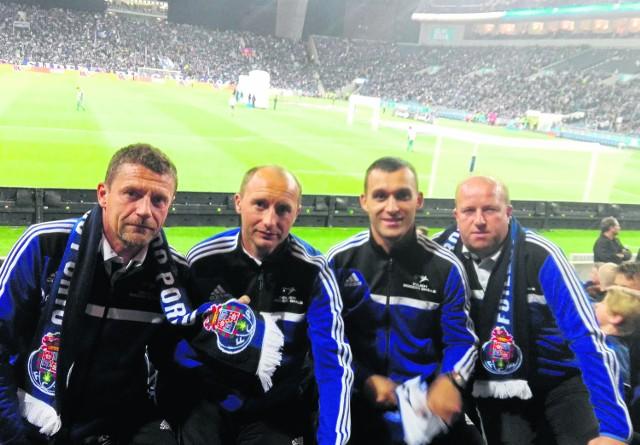 Adam Pietras, drugi z lewej, na meczu ligowym FC Porto - Braga. Spotkanie zakończyło się bezbramkowym remisem. Obie drużyny należą do zespołów, które tracą najmniej bramek w lidze portugalskiej