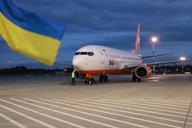 Loty z Łodzi na Ukrainę. 21 września 2021 wylądował pierwszy samolot  Kijowa.