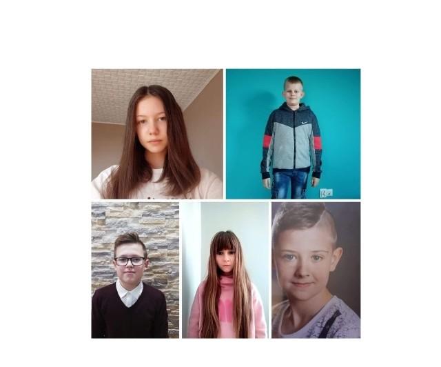 Laureaci konkursu ekologicznego ze szkoły w Kamieńczycach.