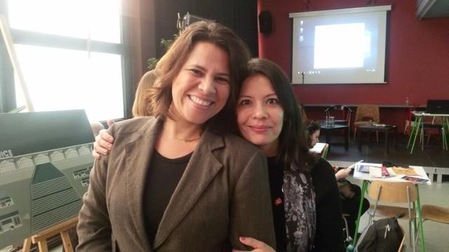 Soraya Pimentel Pessino de Rosa z Salvadoru i Alice Moser z  Hanoweru. Opowiadały o muzycznej stronie swoich miast