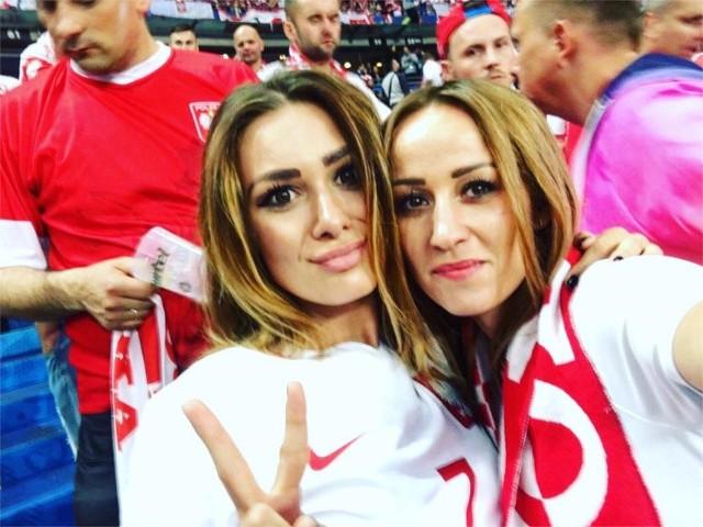 Jessica Ziółek (partnerka Arkadiusza Milika) i Marta Glik (żona Kamila Glika). Foto: Facebook