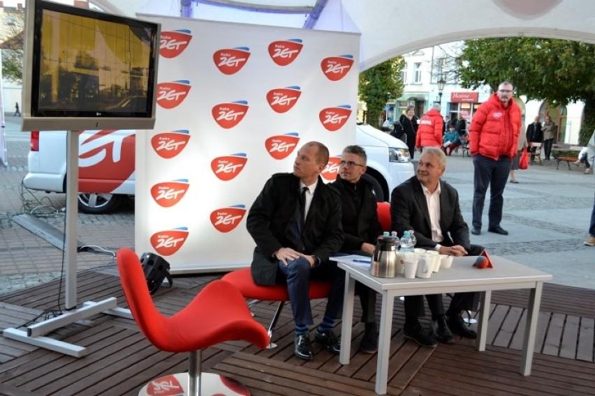 Ring wyborczy w Wejherowie. Debata wyborcza trzech pretendentów do fotela prezydenta miasta