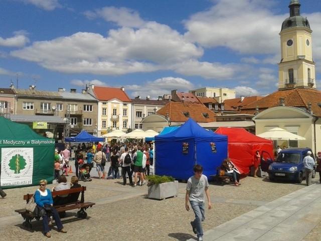 Studencki kociołek na Rynku Kościuszki.