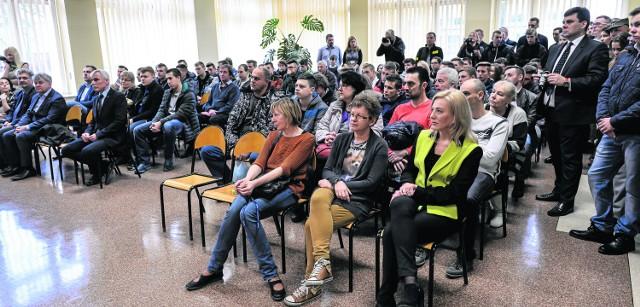 Spotkanie w Zespole Szkół Samochodowych w Gdańsku cieszyło się dużym zainteresowaniem