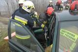 Wypadek w Duńkowiczkach pod Przemyślem. Dwie osoby ranne w zderzeniu toyoty z audi i ciężarówką [ZDJĘCIA]