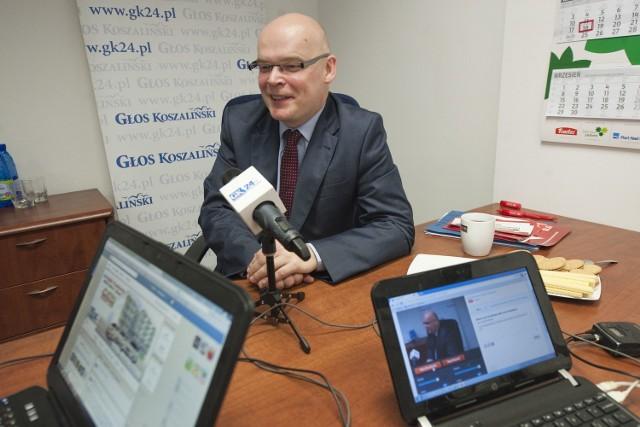 Adam Ostaszewski z SLD, kandydat na prezydenta Koszalina.
