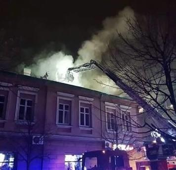 Nocne pożary kamienic w Andrychowie