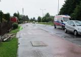 Na ul. Zaborskiej w Oświęcimiu mercedes potrącił 87-letniego rowerzystę. Starszy mężczyzna w ciężkim stanie trafił do szpitala