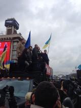 Politycy z Dolnego Śląska na Majdanie w Kijowie [ZDJĘCIA]