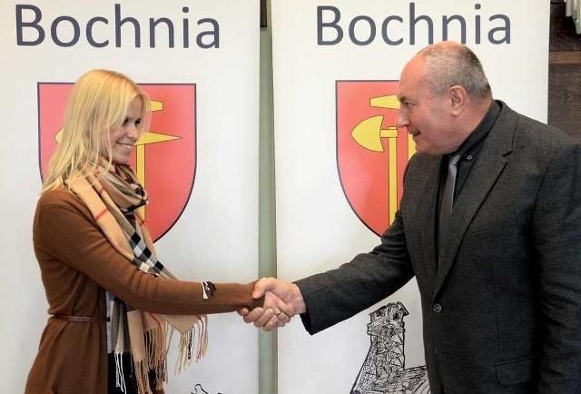 Stefan Kolawiński, burmistrz Bochni i  pełnomocnik inwestora Anna Bielecki
