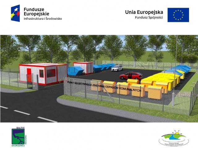 PSZOK będzie zlokalizowany na terenie działki 8/34 o powierzchni 5192 m2, położonej na terenie Karlina przy ul. Kołobrzeskiej.