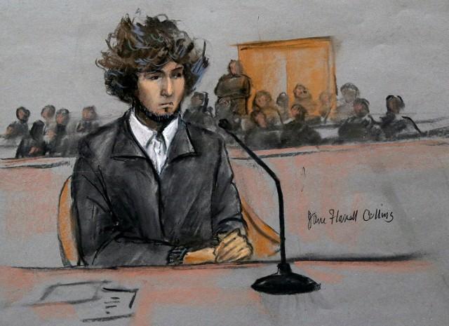 Dżochar Carnajew w sądzie