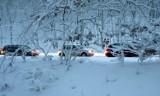 Atak zimy w Podlaskiem. Trudne warunki na drogach