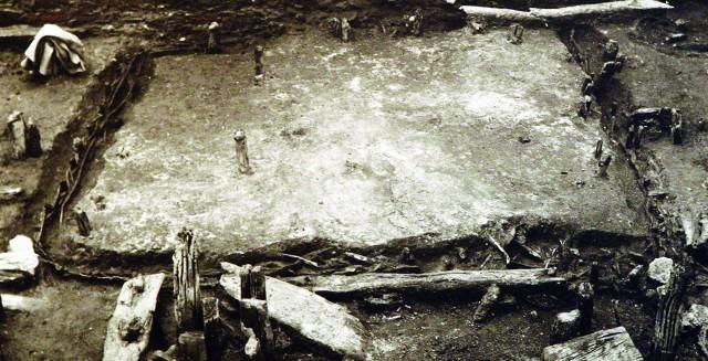 Wzgórze Zamkowe, dom plecionkowy z XII w. Wystawa w Muzeum Historii Szczecin