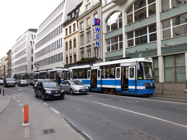 Awaria tramwajów w centrum
